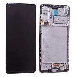 Bloc écran PLS TFT pré-monté sur châssis pour Samsung Galaxy A21s Noir Prismatique