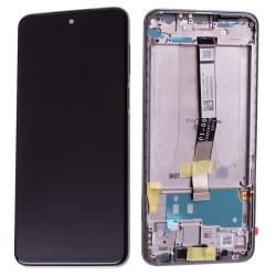 Bloc écran IPS LCD et vitre pré-montés sur châssis pour Xiaomi Redmi Note 9S Blanc Glacier