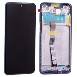 Bloc écran IPS LCD et vitre pré-montés sur châssis pour Xiaomi Redmi Note 9S Aurora Blue