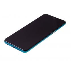 Bloc écran IPS LCD et vitre pré-montés sur châssis pour Xiaomi Redmi Note 9S Aurora Blue photo 1