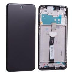 Bloc écran IPS LCD et vitre pré-montés sur châssis pour Xiaomi Redmi Note 9 Pro Gris Interstellaire
