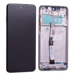 Bloc écran IPS LCD et vitre pré-montés sur châssis pour Xiaomi Redmi Note 9 Pro Blanc Polaire