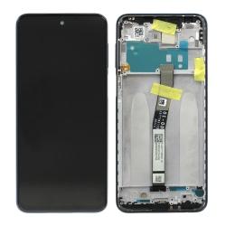Bloc écran IPS LCD et vitre pré-montés sur châssis pour Xiaomi Redmi Note 9S Gris Interstellaire