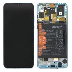 Bloc écran IPS LCD complet pré-monté sur châssis + batterie pour Huawei P30 Lite New Edition Breathing Crystal