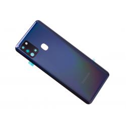 Vitre arrière pour Samsung Galaxy A21s Noir Prismatique