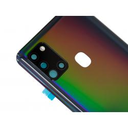 Vitre arrière pour Samsung Galaxy A21s Noir Prismatique photo 1