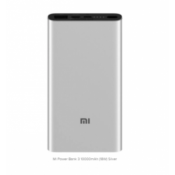 Batterie de secours Xiaomi Mi 18W Fast Charger 10000mAh - Argent photo 0