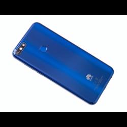 Vitre arrière avec logo pour Huawei Y7 2018 - Bleu photo 0