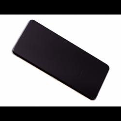 Bloc écran Amoled avec châssis Samsung SM-G985 Galaxy S20 Plus - Blanc photo 0
