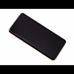 Bloc Ecran Amoled et vitre prémontés sur châssis Samsung SM-G960 Galaxy S9 - Or photo 0
