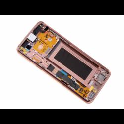 Bloc Ecran Amoled et vitre prémontés sur châssis Samsung SM-G960 Galaxy S9 - Or photo 1