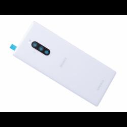Vitre arrière avec logo pour Sony J8110, J8170 Xperia 1, J9110 Xperia 1 Dual SIM - Blanc photo 0