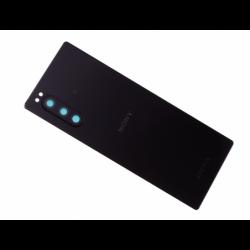 Vitre arrière avec logo pour Sony J9210 Xperia 5 Dual SIM - Noir photo 0