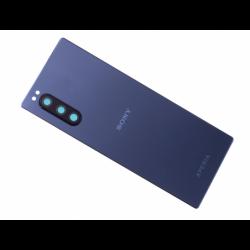 Vitre arrière avec logo pour Sony J9210 Xperia 5 Dual SIM - Bleu photo 0