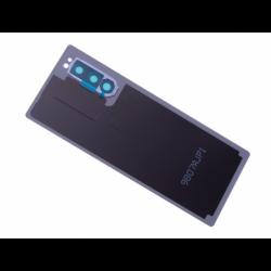 Vitre arrière avec logo pour Sony J9210 Xperia 5 Dual SIM - Bleu photo 1