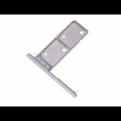 Tiroir SIM et carte SD pour Sony H4413, H4493 Xperia XA2 Plus Dual SIM - Argent photo 0