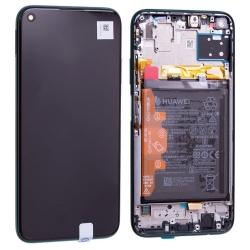 Bloc écran IPS LCD complet pré-monté sur châssis + batterie pour Huawei P40 Lite Vert