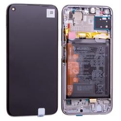 Bloc écran IPS LCD complet pré-monté sur châssis + batterie pour Huawei P40 Lite Rose