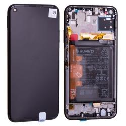 Bloc écran IPS LCD complet pré-monté sur châssis + batterie pour Huawei P40 Lite Noir