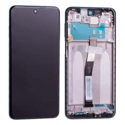 Bloc écran IPS LCD et vitre pré-montés sur châssis pour Xiaomi Redmi Note 9 Pro Vert Forêt
