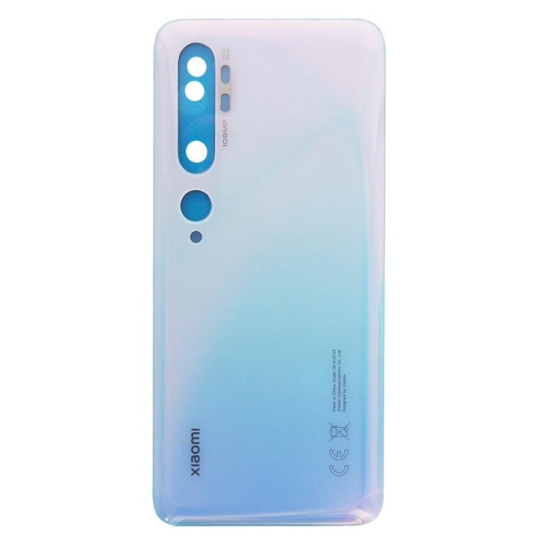 Vitre arrière pour Xiaomi Mi Note 10 et Mi Note 10 Pro Blanc Glacier photo 2