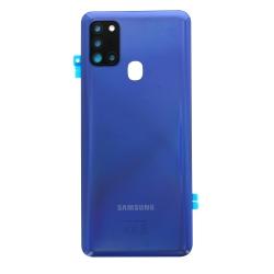 Vitre arrière pour Samsung Galaxy A21s Bleu Prismatique photo 2