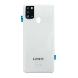 Vitre arrière pour Samsung Galaxy A21s Blanc Prismatique photo 2