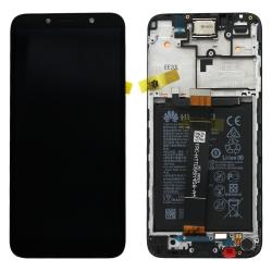 Bloc écran LCD complet pré-monté sur châssis + batterie pour Huawei Y5p