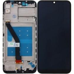 Bloc écran compatible (vitre tactile + LCD) pré-monté sur châssis pour Huawei Y6 (2019)