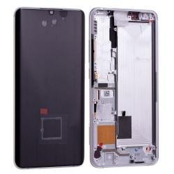 Bloc écran Amoled et vitre pré-montés sur châssis pour Xiaomi Mi Note 10 Pro Blanc photo 2