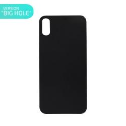 Vitre arrière pour iPhone X Noir - Version BIG HOLE