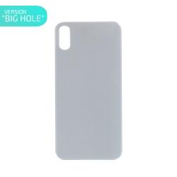Vitre arrière pour iPhone X Blanc - Version BIG HOLE