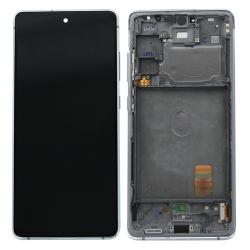 Bloc écran Super AMOLED pré-monté sur châssis pour Samsung Galaxy S20 FE Blanc