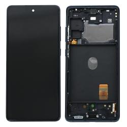 Bloc écran Super AMOLED pré-monté sur châssis pour Samsung Galaxy S20 FE Bleu Marine