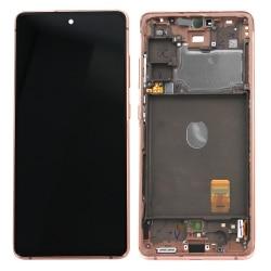 Bloc écran Super AMOLED pré-monté sur châssis pour Samsung Galaxy S20 FE Orange