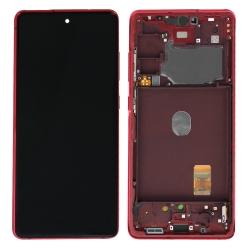 Bloc écran Super AMOLED pré-monté sur châssis pour Samsung Galaxy S20 FE Rouge