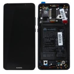 Bloc écran Titanium Gray COMPLET pré-monté sur chassis + batterie pour Huawei Mate 10 Pro