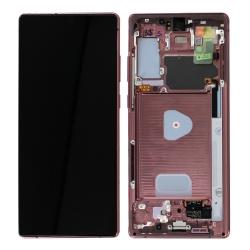 Bloc écran Super AMOLED Plus pré-monté sur châssis pour Samsung Galaxy Note 20 Or