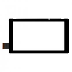Vitre avant tactile noire pour Nintendo Switch