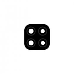 Lentille de protection en verre pour caméra arrière de Xiaomi Redmi 9C