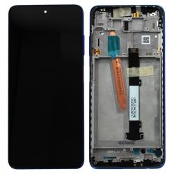 Bloc écran LCD et vitre pré-montés sur châssis pour Xiaomi Poco X3 Bleu