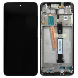 Bloc écran LCD et vitre pré-montés sur châssis pour Xiaomi Poco X3 Noir