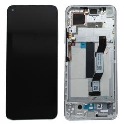 Bloc écran LCD et vitre pré-montés sur châssis pour Xiaomi Mi 10T et Mi 10T Pro Argent