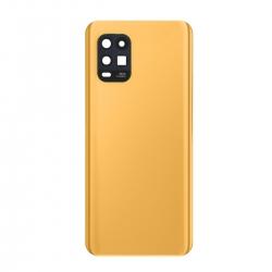 Vitre arrière compatible pour Xiaomi Mi 10 lite Orange photo 2