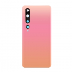 Vitre arrière compatible pour Xiaomi Mi 10 Or Rose photo 2
