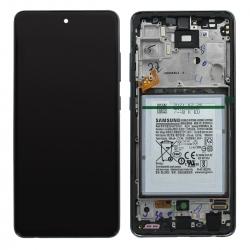 Bloc écran pré-monté sur châssis + batterie pour Samsung Galaxy A52 Noir_photo1
