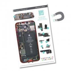 Patron magnétique d'aide au montage pour iPhone 12 Mini