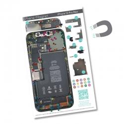 Patron magnétique d'aide au montage pour iPhone 12 Pro Max