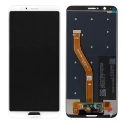 Ecran Blanc compatible avec vitre et LCD prémonté pour Huawei Honor View 10