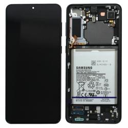 Bloc écran Dynamic Amoled 2X pré-monté sur châssis + batterie pour Samsung Galaxy S21+ Phantom Black_photo1